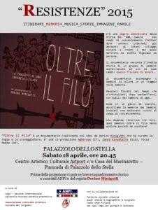 Locandina Resistenze 2015 Palazzolo