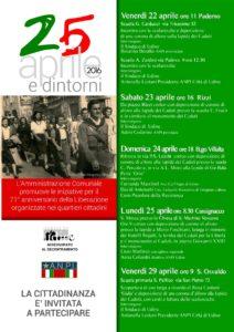25 aprile a Udine scuole e quartieri