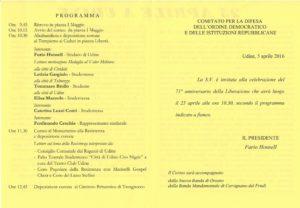 programma 25 aprile comune