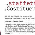 Immagini pedalata per il 70° del voto alle donne domenica 19 giugno 2016 a Udine
