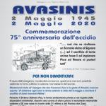 Foto e video cerimonia ad Avasinis di Trasaghis 2 maggio 2020